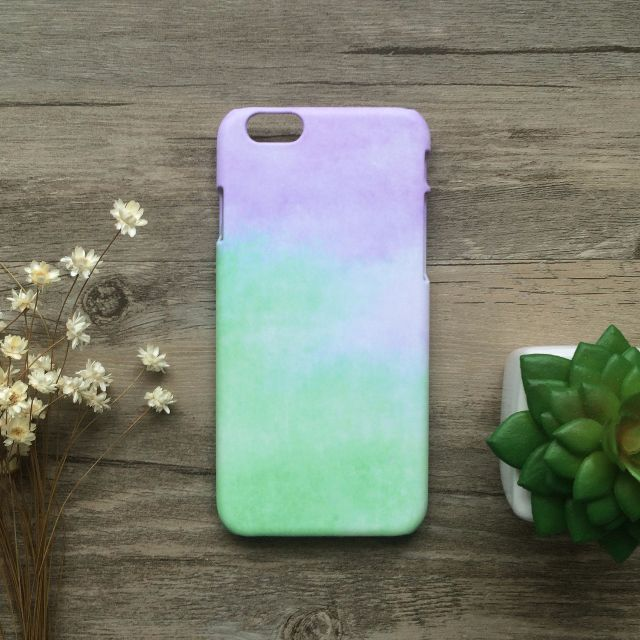 紫綠雲海馬卡龍色//原創手機殼- iPhone, HTC, Samsung, Sony, oppo, LG 磨砂硬殼