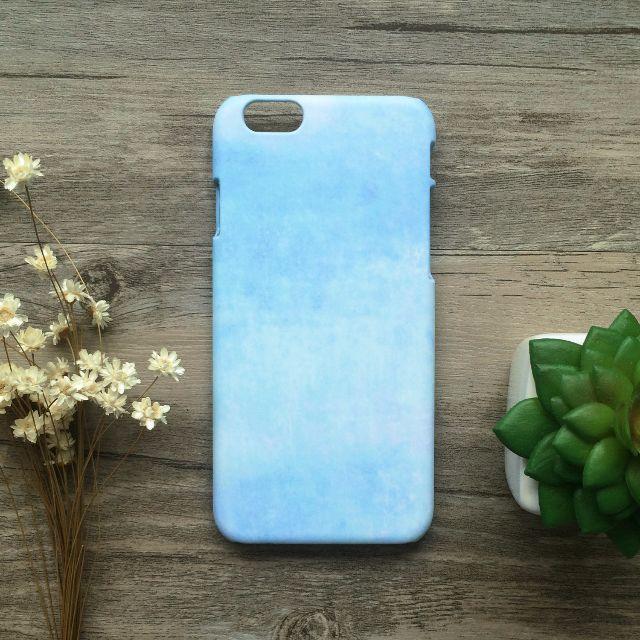 粉藍馬卡龍水彩色鉛筆//原創手機殼- iPhone, HTC, Samsung, Sony, oppo, LG, Asus 磨砂硬殼