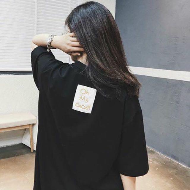 韓國 質感棉質刺繡ohmygod連身衣
