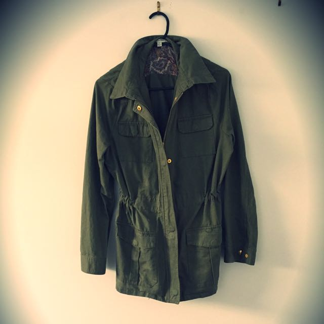 Army Green Jacket Size M