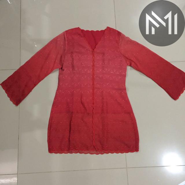 Baju Atasan Kebaya Merah