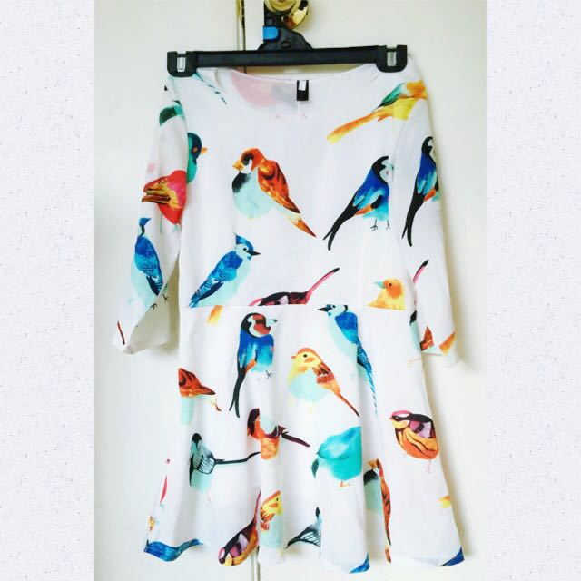 Birds Dress Size 10-12