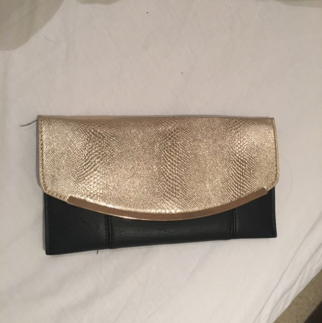 Black And Gold Colette Hayman Clutch
