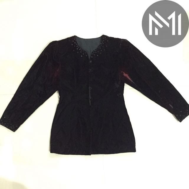 Black Velvet Jacket