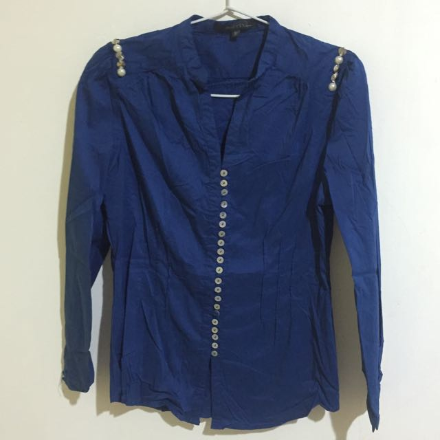 Blue Buttons Shirt