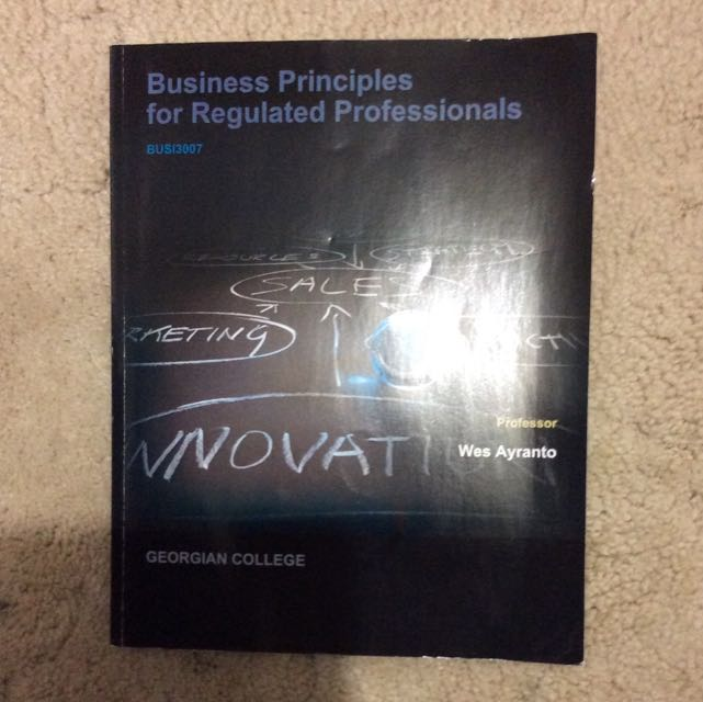 Business Principles For Regulated Professionals