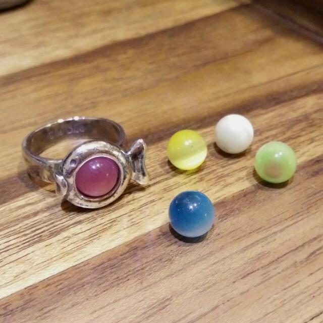 法國Clio Blue品牌925純銀經典貓眼石戒指