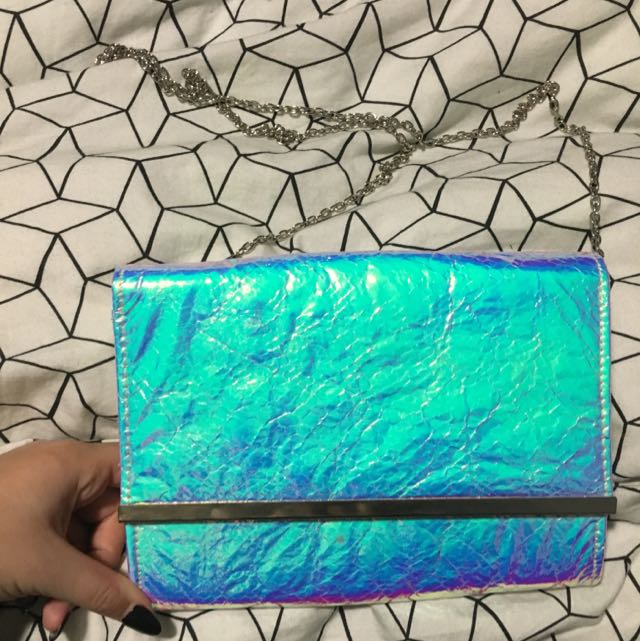 Colette Holographic Clutch Bag