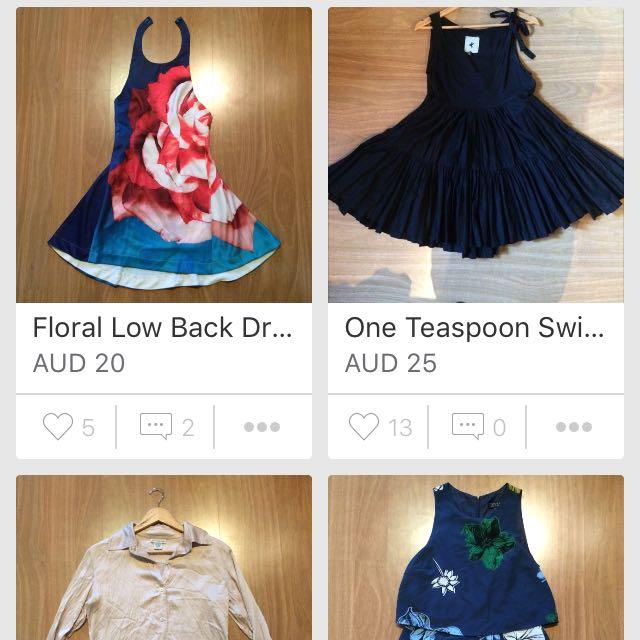 Dresses,tops Etc:)