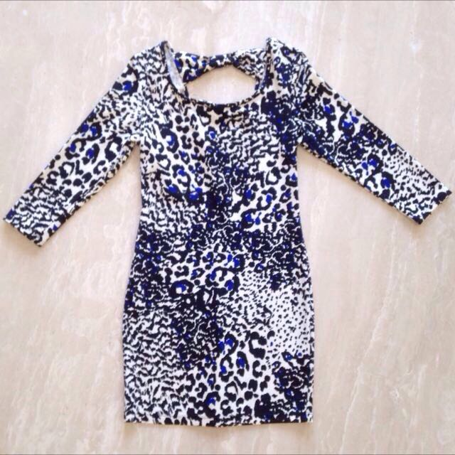 F21 Blue Leopard Dress