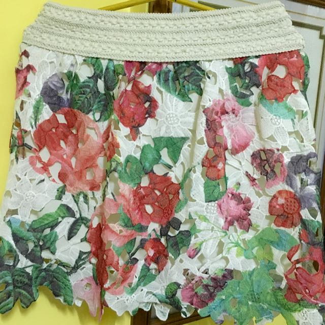 !!!REPRICED!!!   Floral Lace Skirt