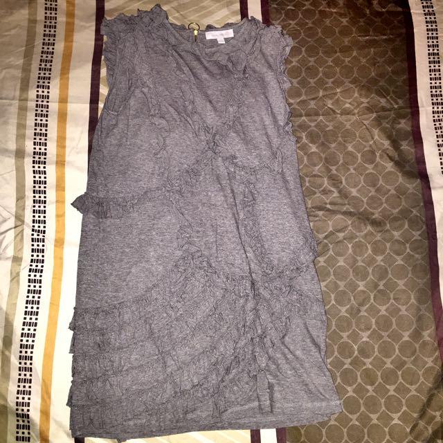 Gray Cotton Dress