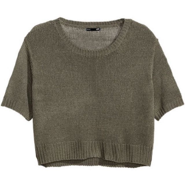 H&M Knitted Cropped Top