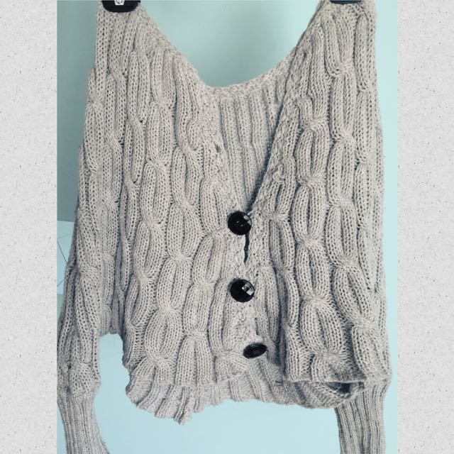 Light Grey Knit Top