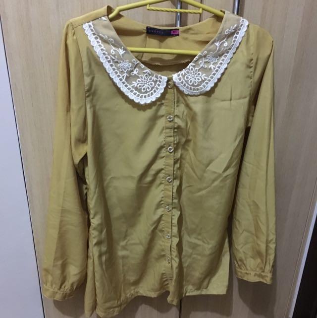 Long Sleeve Blouse/office Wear
