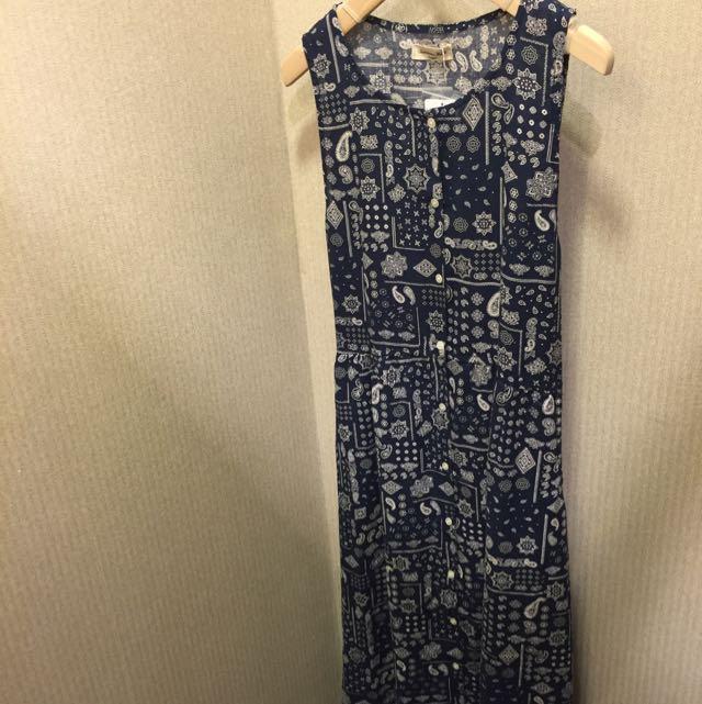 Sm2棉麻背心洋裝