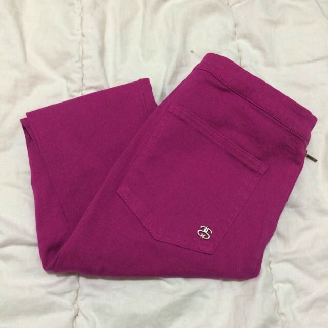 Stussy Pink Highwaisted Stretchy Pants