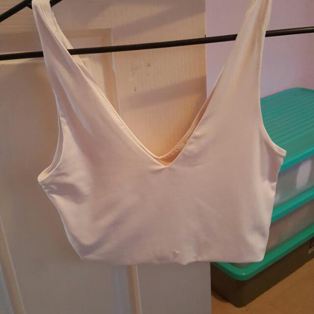 Supre Crop Top Size S Creme Colour