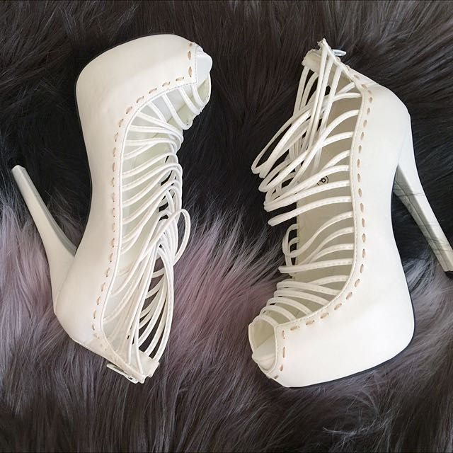 White High Heels Size 8/8.5