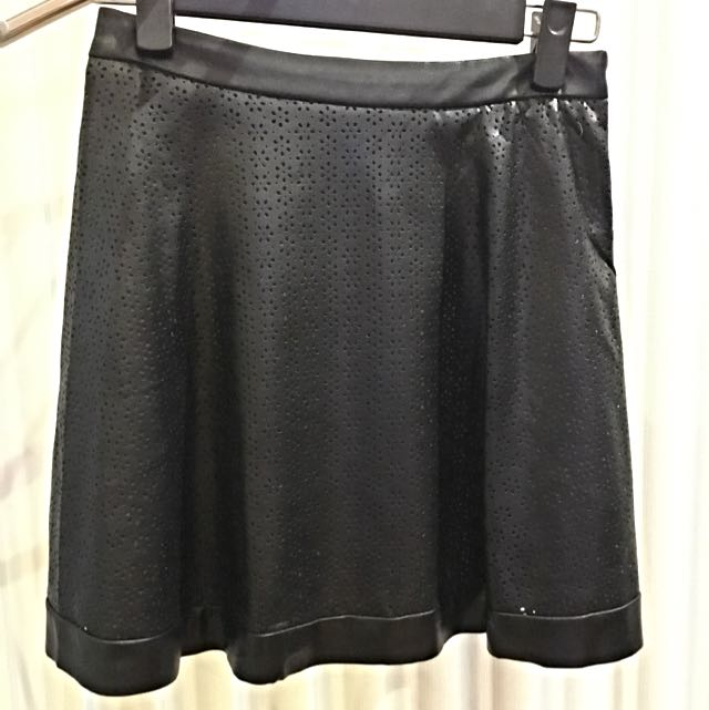 'Zalora' Faux Leather Skirt