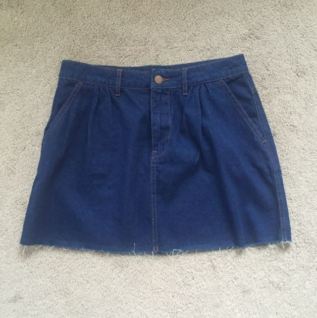Zara Dark Denim Skirt