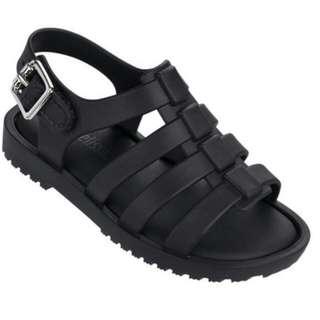 mini melissa black sandal
