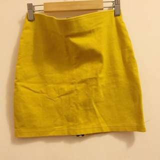 H&M芥茉黃包臀裙 窄裙
