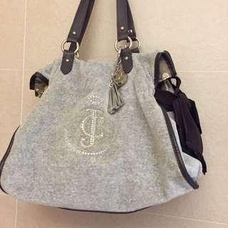 Juicy Couture 絨布肩背手提包