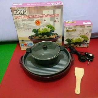 Bbq Hot Plate With Steam Pot