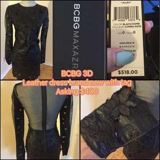 BCBG Leather 3D Dress