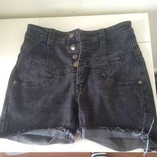 Vero Moda Black Jeans Shorts