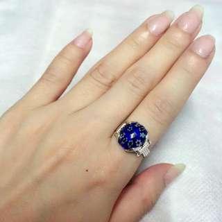 韓國特色戒指(藍色)