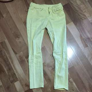 Yellow American Eagle Stretch Jeans