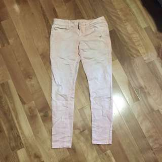 Peach Coloured American Eagle Stretch Jeans
