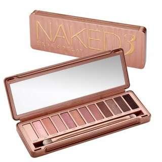 BNIB Urban Decay Naked 3 Eyeshadow Palette