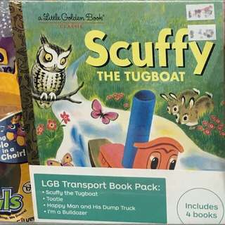 Little Golden Book Classic - Transport Book Pack (4 Books Included)