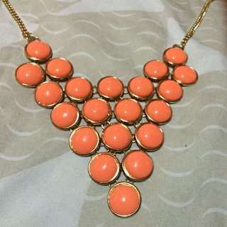 Chunky Peach Necklace