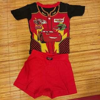 Cars McQueen 短袖套裝 2歲,美國迪士尼購入