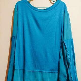 Bluegreen pullover