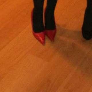 Red Aldo Leather Heels/stilettos Size 8