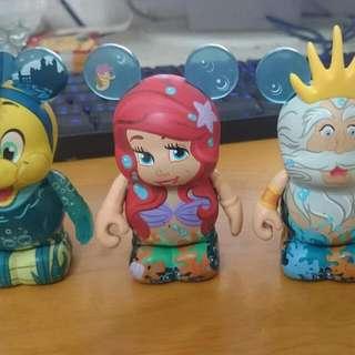 迪士尼 美人魚 潮流公仔 正版 無盒 4款1000