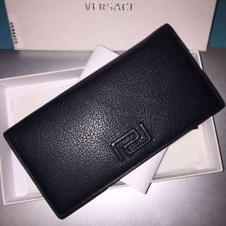Versace Billfold Calf Leather Wallet - Black