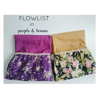 Flower List Pashmina (Purple & Brown)