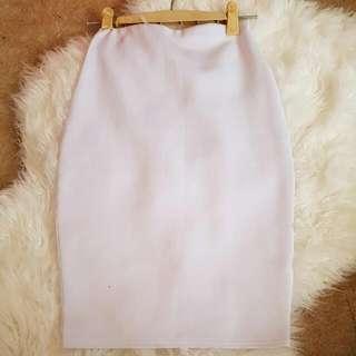 Missguided White Midi Skirt