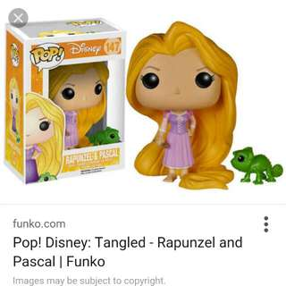 Funko Pop Vinyl Tangled Disney Rapunzel And Pascal Figurines