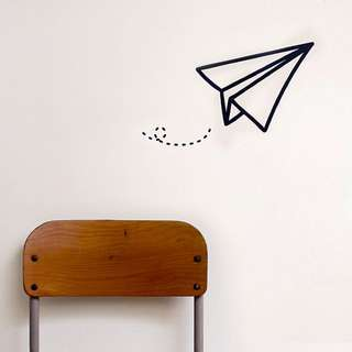 *Temporary Out of Stock - Paper Plane Wall Art / Sticker ( Vinyl Sticker )