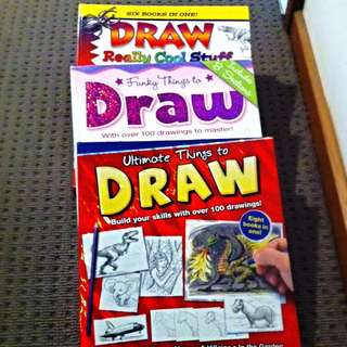 Set Of 3 - How To Draw Books