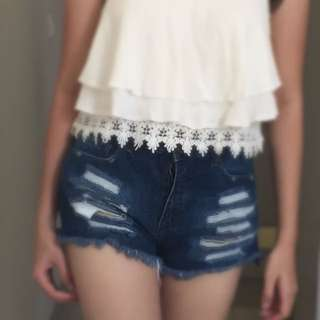 Forever 21 High Waist Ripped Jeans