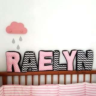Customize Alphabet Name Pillow