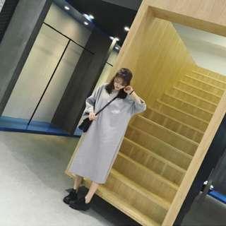 寬鬆長款連衣裙